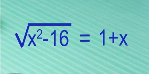 Ecuación con radicales