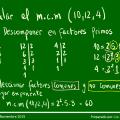 Cómo calcular el minimo comun multiplo?