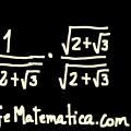 Racionalizacion de denominadores : Binomo