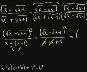 La conjugada para racionalizar denominadores